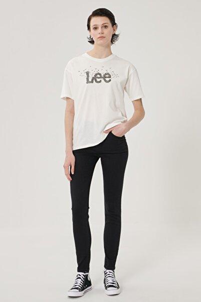 Lee Kadın Siyah Scarlett High Skinny Fit Denim Esnek Jean Kot Pantolon