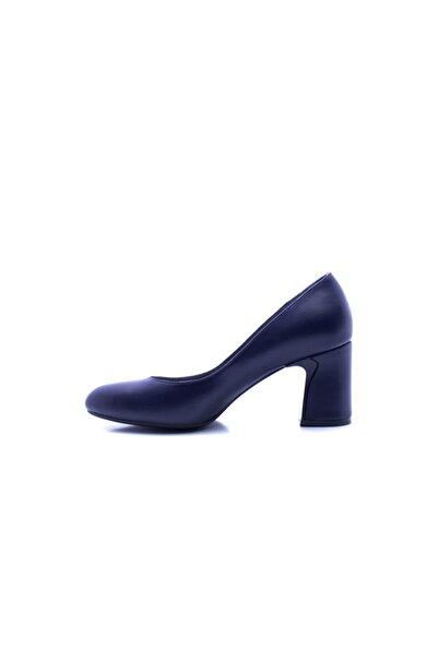 Beta Shoes Topuklu Ayakkabı Hakiki Deri Kadın Lacivert