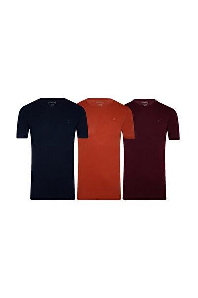 SÜVARİ Pamuk Amblemli O Yaka Tshirt 3'lü