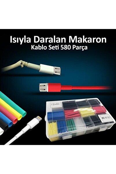 FRT Ottoman Isıyla Daralan Makaron Kablo Seti 580 Parça Kablo Tamir Kiti