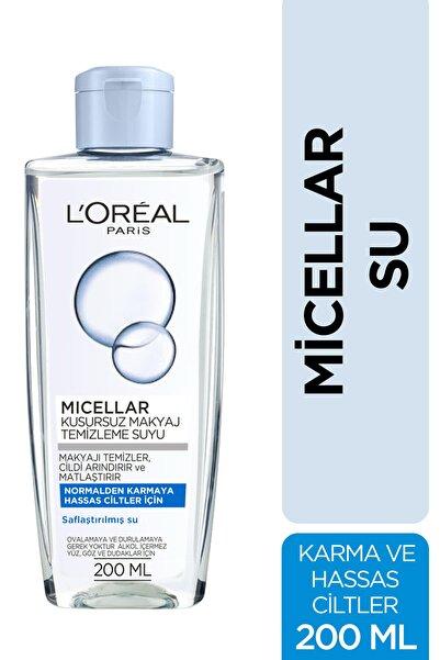 L'Oreal Paris Micellar Makyaj Temizleme Suyu Normalden Ve Karmaya Hassas Ciltler Için 200 ml