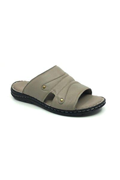Taşpınar Hakiki Deri Ortopedik Rahat Erkek Terlik-sandalet 40-45