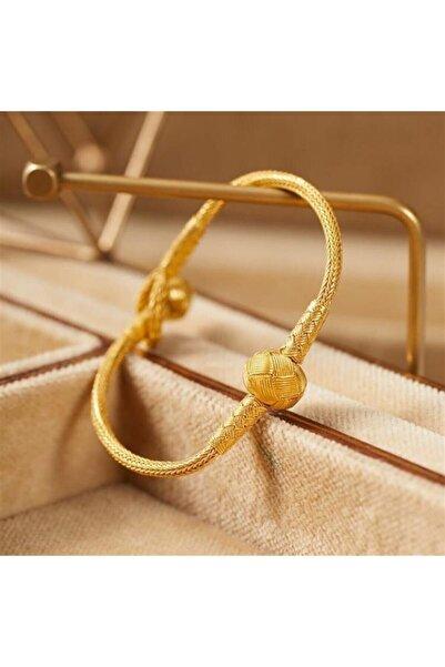 bestmysilver Altın Kaplama Kazaziye Top Bileklik