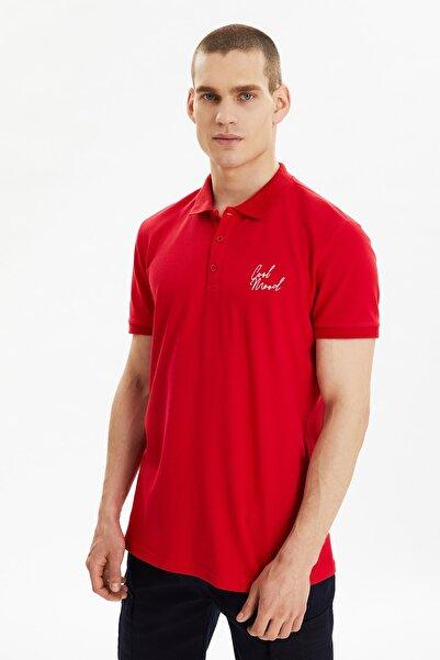 TRENDYOL MAN Kırmızı Erkek Polo Yaka T-shirt TMNSS21PO0161