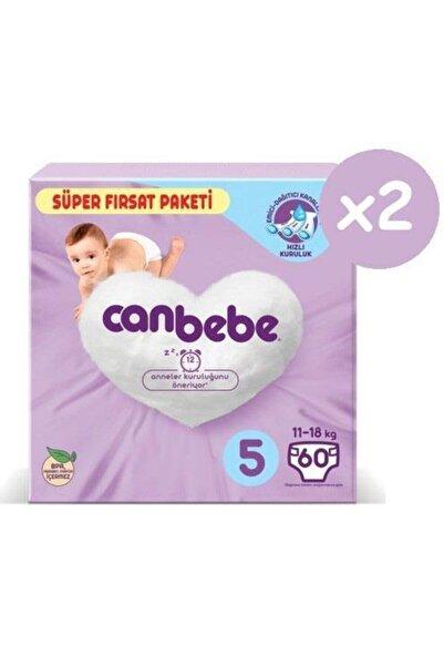 Canbebe Süper Fırsat Paketi Bebek Bezi 5 Numara 60x2 120 Adet