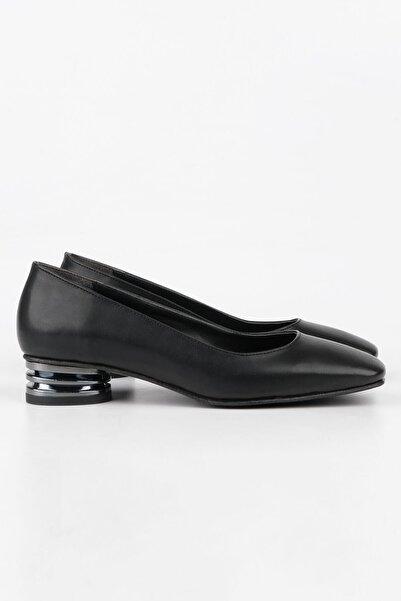 Buffalo Kadın Siyah Babet Ayakkabı