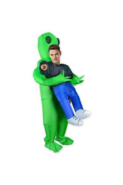 Mimozaavm Yeşil Alien Şişme Uzaylı Kostümü