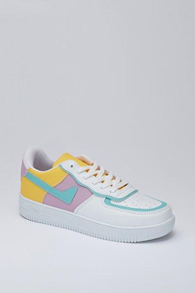 MUGGO Unısex Beyaz Yeşil Sneaker Ayakkabı