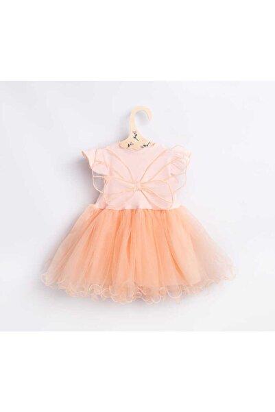 Le Mabelle Kız Bebek Yavruağzı Kelebek Kanatlı Elbise