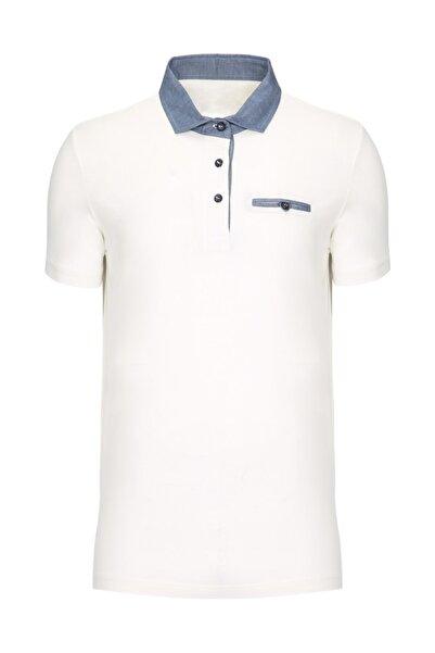 W Collection Beyaz Polo Yaka Tshirt