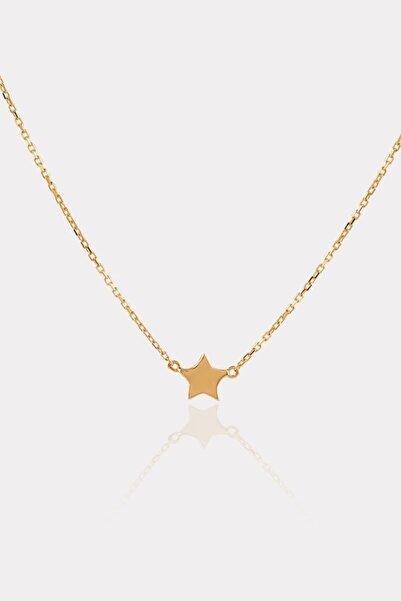 ATASAY Sarı Altın Yıldız Figürlü Kolye