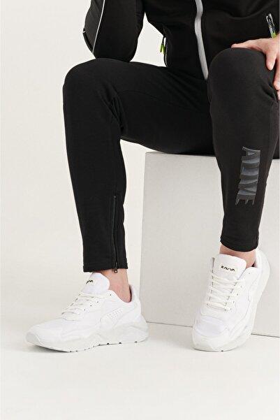 Avva Erkek Beyaz Suni Deri Spor Ayakkabı A11y8024