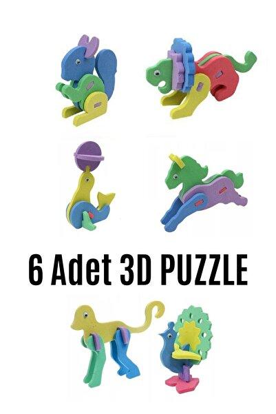 modapratik kids 6 Adet 3d Puzzle Eva Köpük Maket Hayvanlar