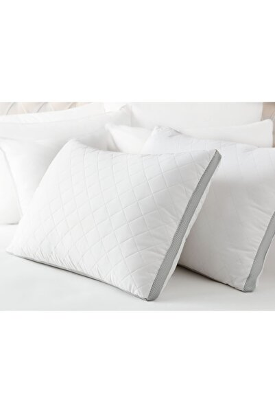 Madame Coco Klimalı Yastık - Beyaz / Açık Gri