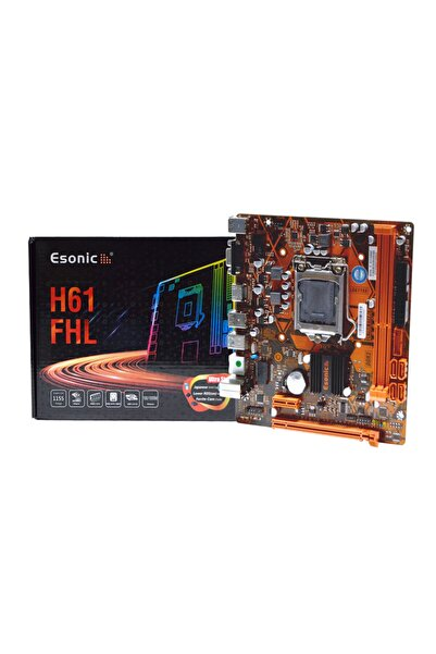 ESONIC H61fhl Intel H61 Ddr3 1600mhz 1155 Pin Matx Anakart