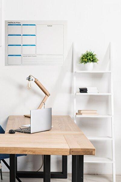Evbuya Haftalık Planlayıcı Yapışkansız Bantsız Tutunan Statik Akıllı Kağıt Silgili Tahta Kalemi Dahil