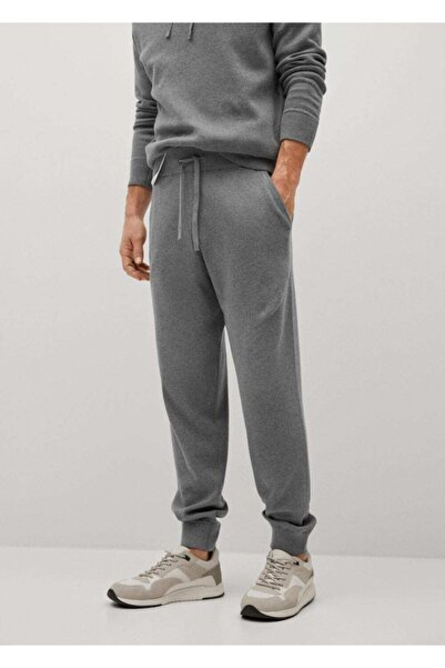 MANGO Man Erkek Gri Orta Kırçıllı Jogger Pantolon