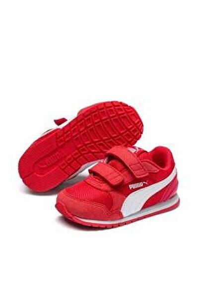 Puma St Runner V2 Mesh V Ps Kırmızı Beyaz Unisex Çocuk Sneaker Ayakkabı 100415121