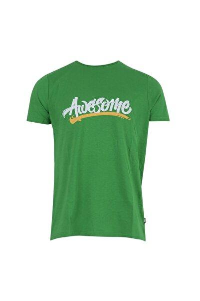 Bad Bear Erkek Yeşil Baskılı Bisiklet Yaka T-shirt