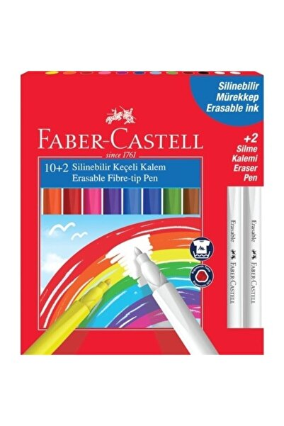 Faber Castell Faber-castell Keçeli Boya Kalemi Silinebilir 12 Renk 5062000004