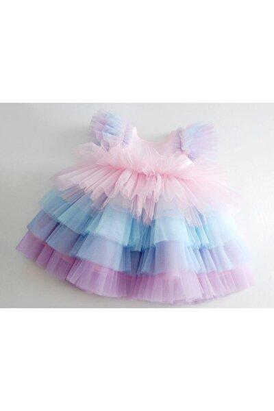 GNL Tasarım Kız Çocuk Rengarenk Tütü Elbise