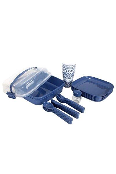 Sh Mağazacılık Titiz Plastik Lovely Piknik Seti Mavi 32 Parça