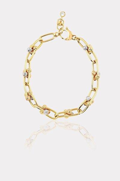 ATASAY Kadın Sarı Zincir Altın Bileklik