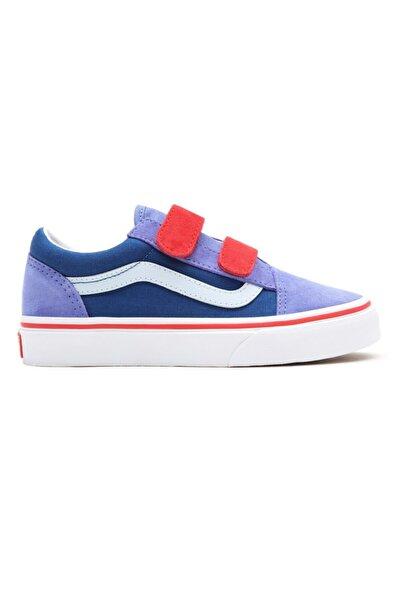 Vans Td Old Skool V (b) Mor Kırmızı Unisex Çocuk Sneaker