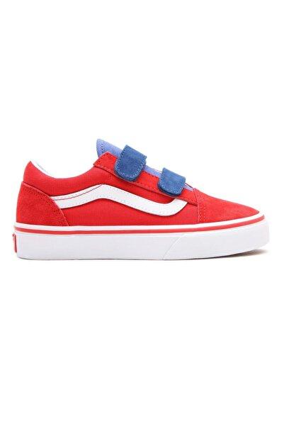 Vans Td Old Skool V Kırmızı Unisex Çocuk Sneaker