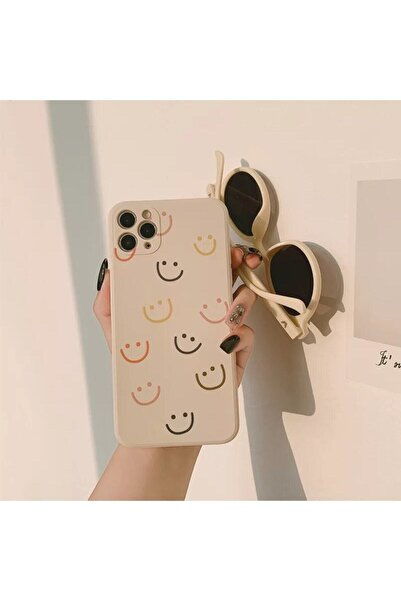 Go Aksesuar Iphone 12 Pro Max Smile Desenli Baskılı Lansman Koruyucu Kapak Kılıf