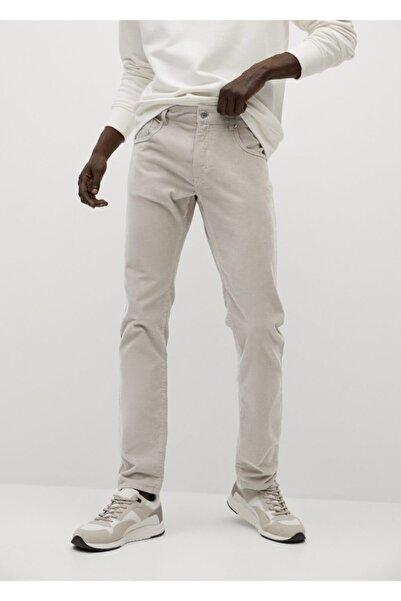 MANGO Man Denim Görünümlü Dar Kesimli Fitilli Kadife Pantolon