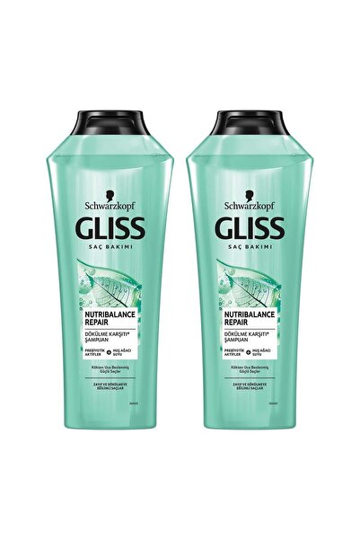 Gliss Nutribalance Repair Saç Dökülmesi Karşıtı Şampuan 360 ml 2'li