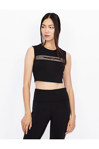 Armani Exchange Kadın Siyah Jersey Body