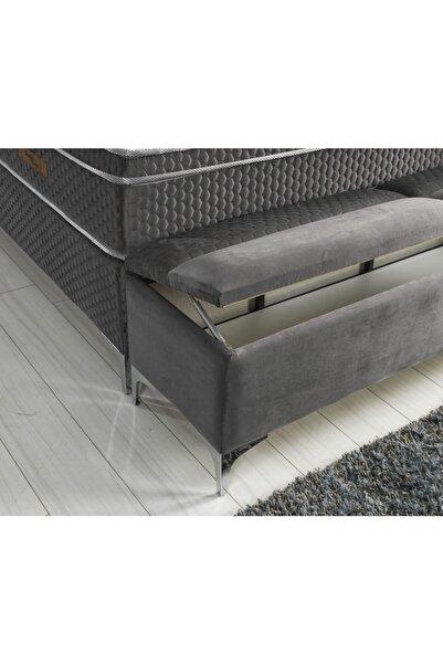 Sleep Corner Solo 160 Cm Sandıklı Puf Bench A Kalite Antre Ayak Ucu Puf