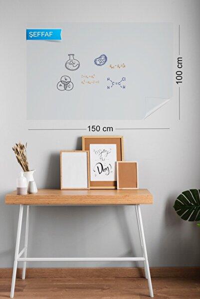 Evbuya 100x150 cm Şeffaf Yapışkansız Statik Tutunabilir Akıllı Kağıt Tahta 2 Adet