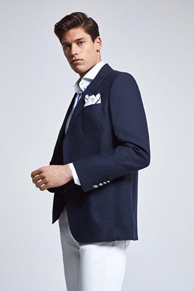 D'S Damat Lacivert Renk Erkek  Ceket (Slim Fit)