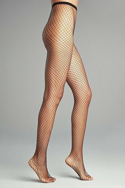 Penti Kadın Siyah Orta File Külotlu Çorap