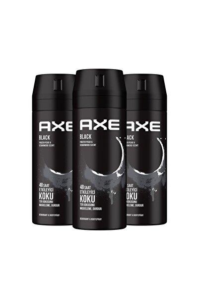 Axe Erkek Deodorant Sprey Black 150 Ml X3