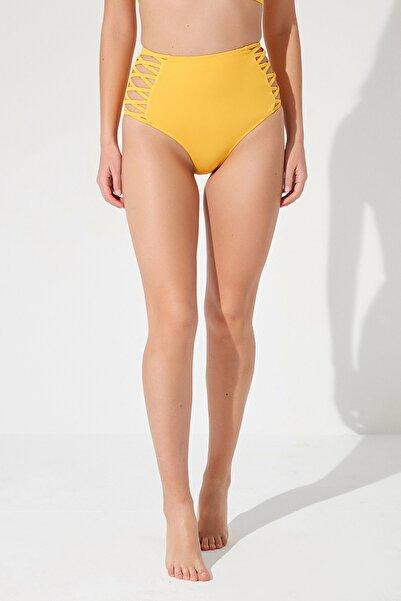 Penti Kadın Sarı Basic High Fashion Bikini Altı