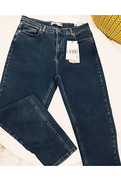 KAROL Kadın Lacivert Mom Jeans