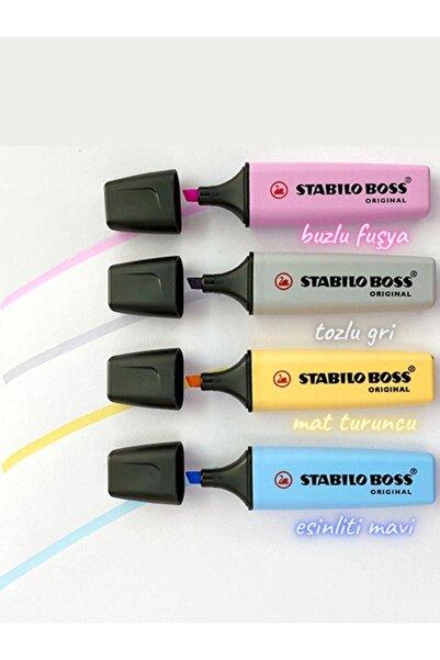 Stabilo Boss Pastel Fosforlu Kalem 4'lü Set