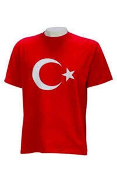 salarticaret Bayrak Tişört Ay Yıldızlı Tişört Unisex Pamuklu Ürün