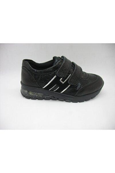 Toddler Kız Çocuk Siyah Deri Ortopedik Günlük Ayakkabısı 26-29 00301