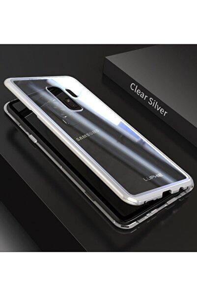 Samsung Galaxy S9 Plus Uyumlu Kılıf Mıknatıslı Magnet Çerçeve Cam Arka Kapak