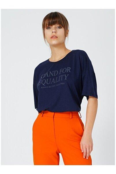 Fabrika Kadın Lacivert Tişört