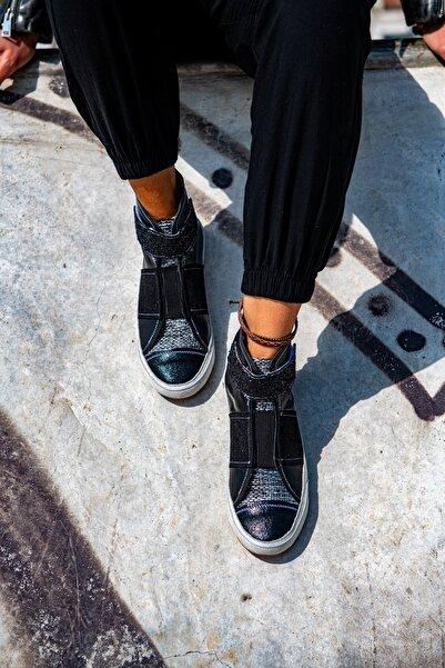 Güneşkızı Kadın Siyah GUKI35 Expelliarmus High Top Sneaker Gk2101-02005