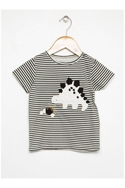 Mammaramma Erkek Bebek Siyah Baskılı T-shirt