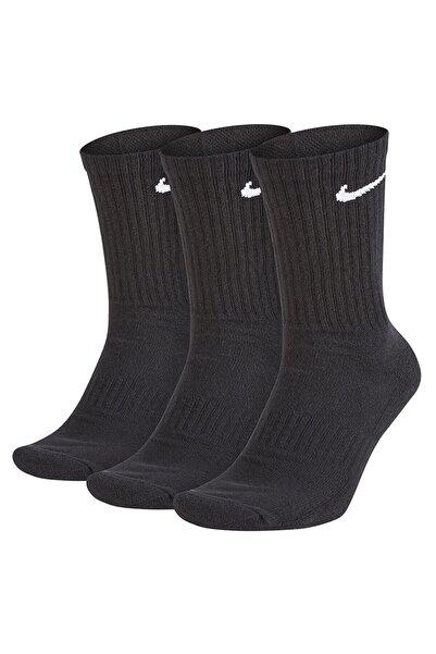 Nike Unisex Siyah Everyday Cushioned 3 lü Çorap Seti