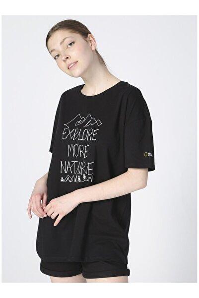NATIONAL GEOGRAPHIC Siyah Yarım Kol Tişört
