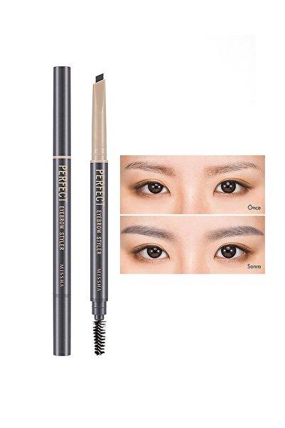 Missha Uzun Süre Kalıcı Asansörlü Kaş Kalemi  Perfect Eyebrow Styler (Gray)